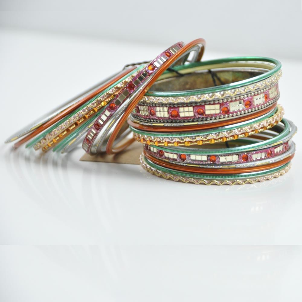 pulseras verde/tierra